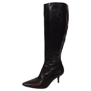 Via Spiga Garyn Brown Leather Knee High Boot